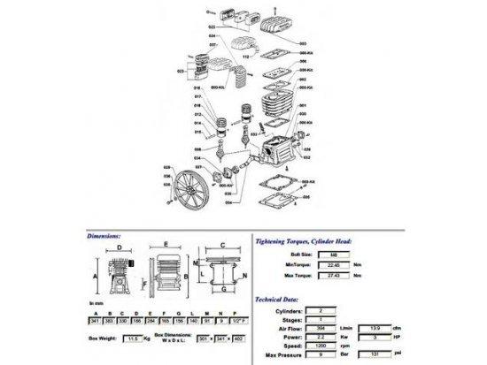 Αντλία αέρος, συμπιεστής B3800
