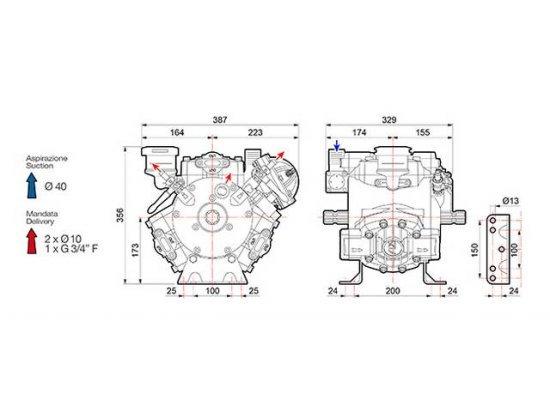 Αντλία ψεκαστήρα μεμβρανοφόρα COMET APS121
