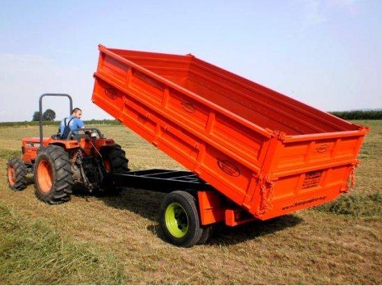 Καρότσα ανατροπή για τρακτέρ 6 τόνων
