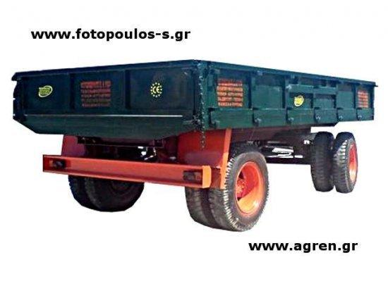 Πλατφόρμα μεταφοράς. Ρυμουλκούμενο όχημα 12t