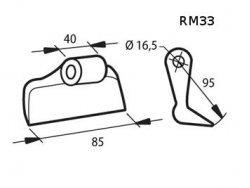 Σφυριά καταστροφέα για κλαδιά και χόρτα RM33